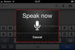 Speak now - Google Search app
