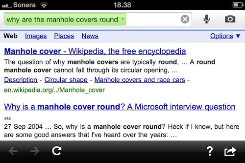 Google Search app - manhole covers