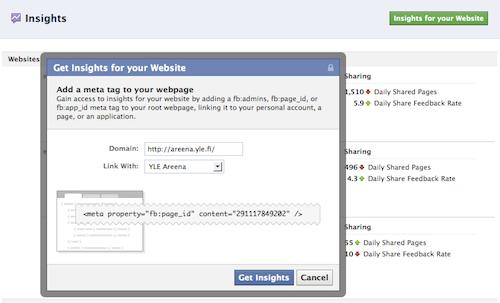 Facebook Insights -tagin ohje